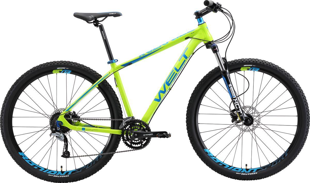 Велосипед горный Welt 2018 Rockfall 3.0, цвет: синий, зеленый, рама M, колесо 27