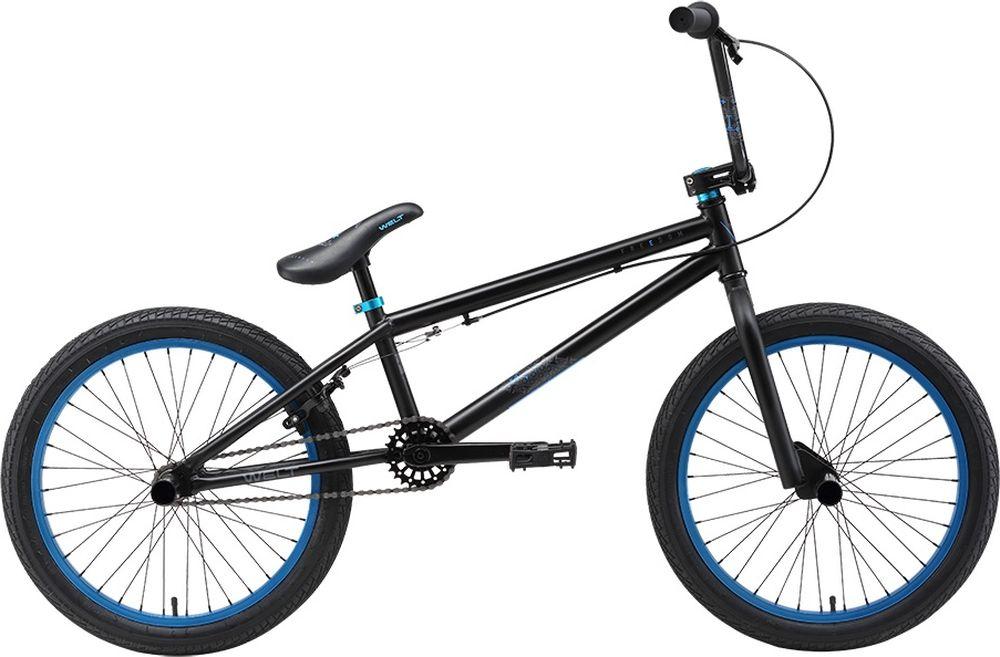Велосипед BMX Welt 2018 Freedom matt, цвет: черный, синий, колесо 26