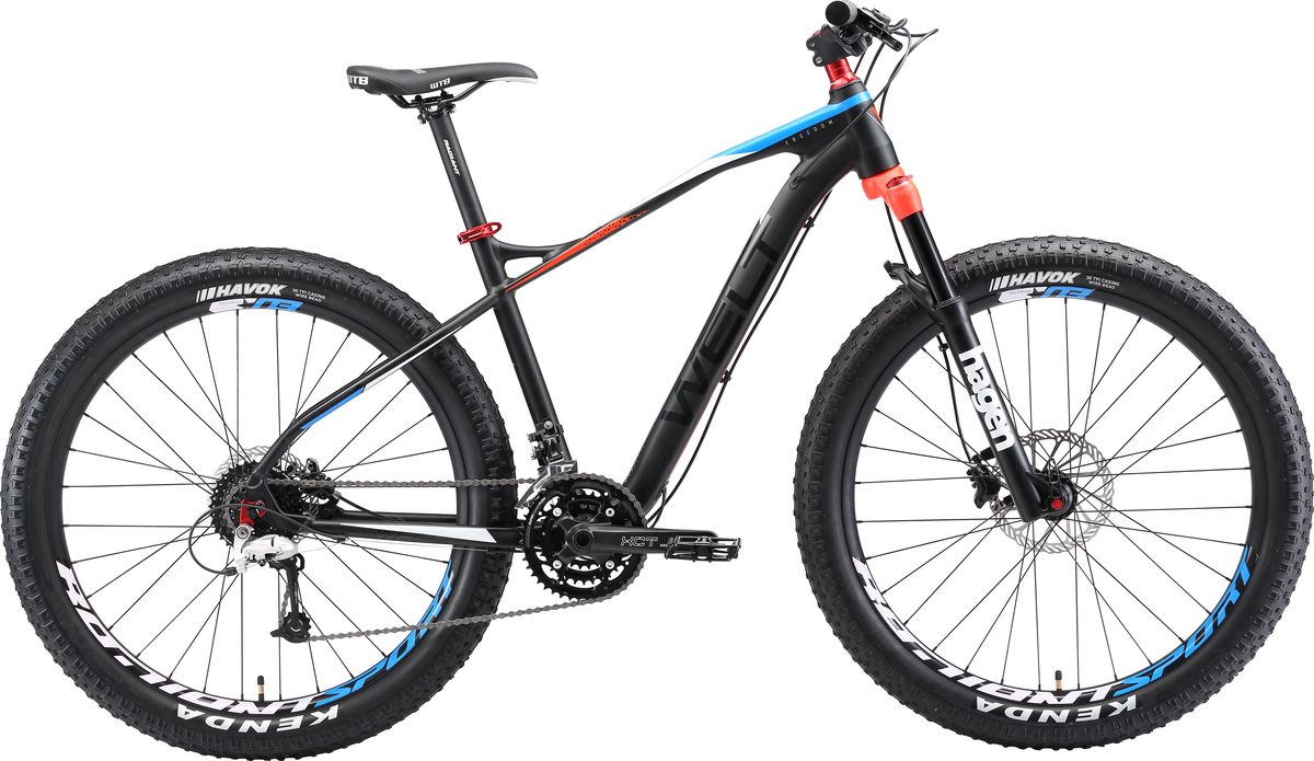Велосипед горный Welt 2018 Freedom Plus matt, цвет: черный, красный, рама M, колесо 27