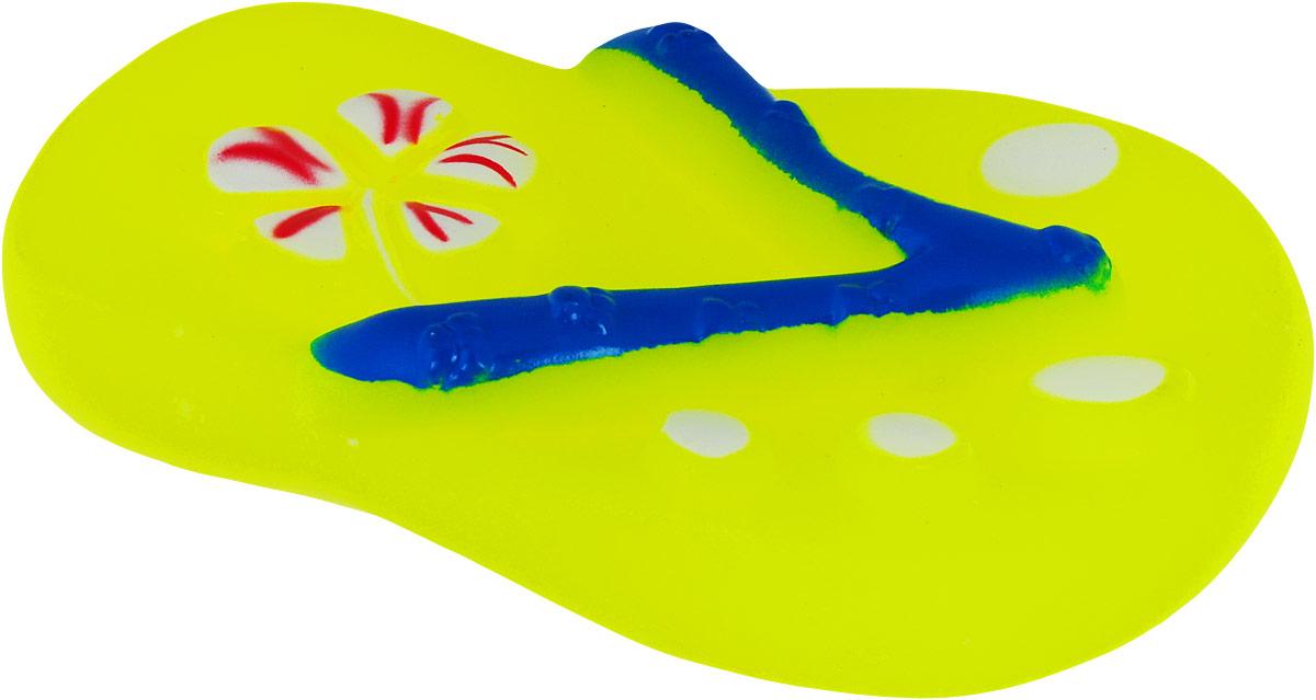 Игрушка для собак Уют Шлепки-сланцы, цвет: желтый, 13 x 7 см уют