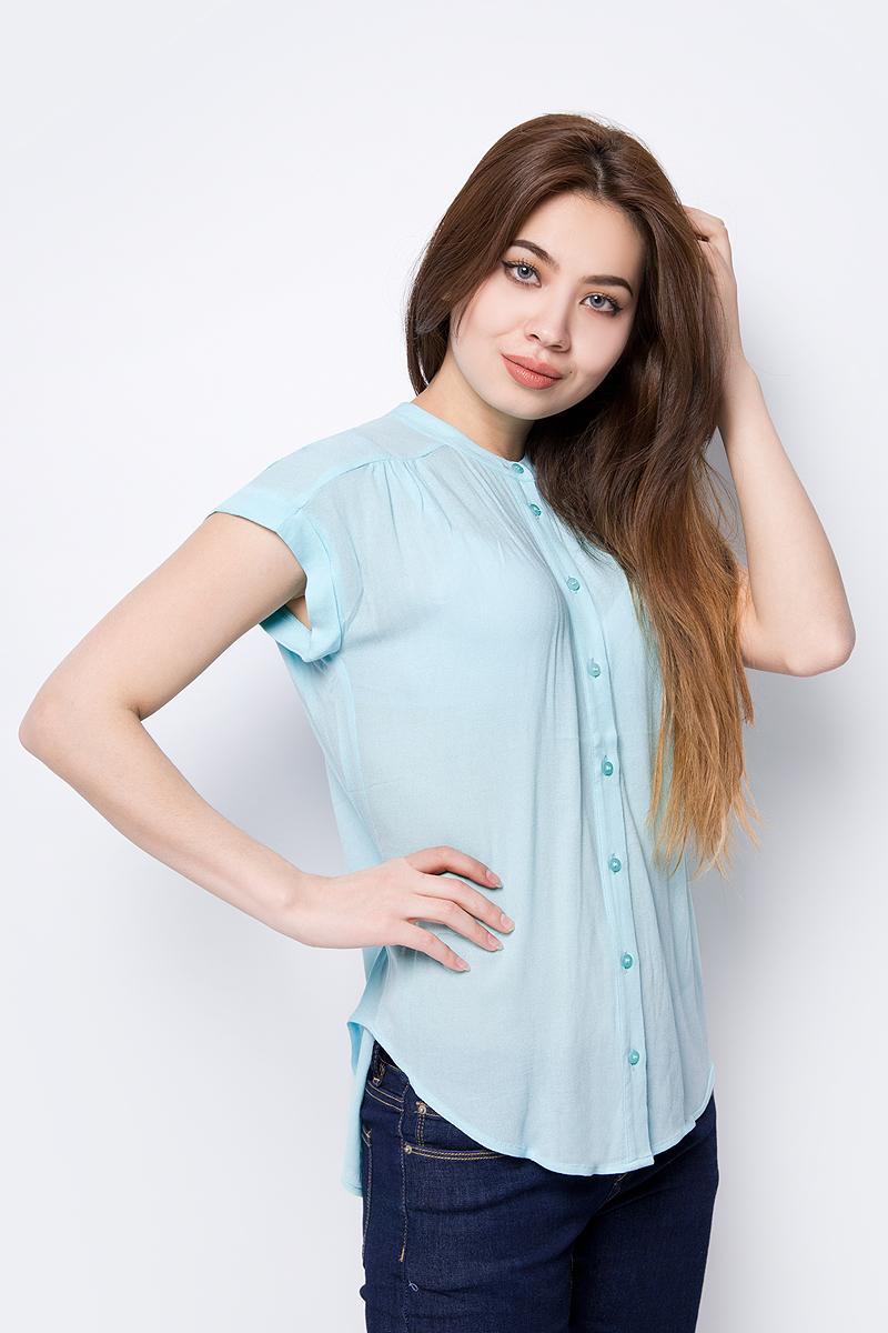 Блузка женская Sela, цвет: ментоловый. Bs-112/631-8263. Размер 48