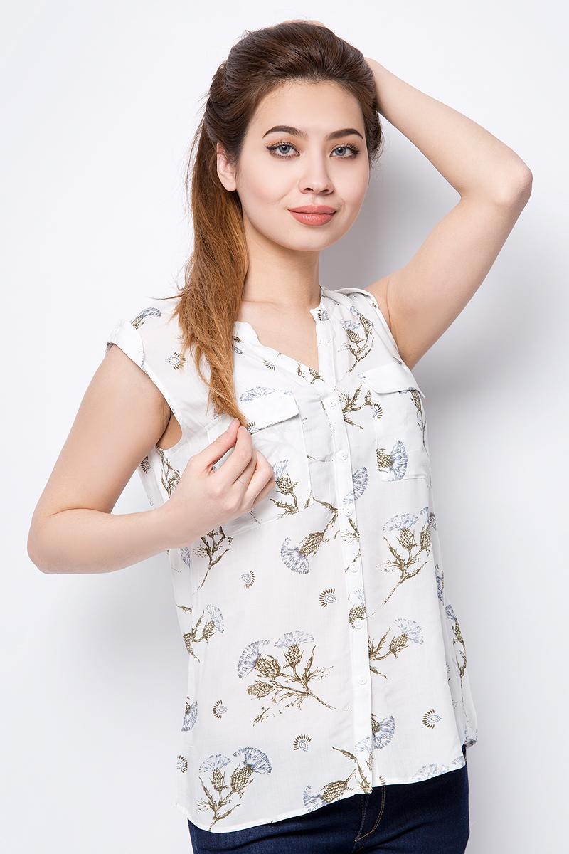 Блузка женская Sela, цвет: слоновая кость. Bsl-112/1328-8223. Размер 50 блузка женская sela цвет слоновая кость bsl 112 272 8111 размер 48