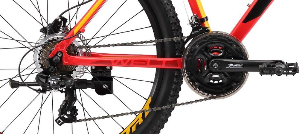 """Сенсационная модель, ломающая стереотипы! Классическая универсальная модель начального уровня с дисковыми гидравлическими тормозами. С одной стороны, это классическая универсальная модель начального уровня с 21-й скоростной трансмиссией Shimano серии TX для рядовых пользователей, редко использующих велосипед ежедневно. C другой стороны, данная модель оснащена дисковыми механическими тормозами Shimano, которыми обычно комплектуются велосипеды спортивного уровня, в разы дороже, что делает ее на порядок безопаснее, качественнее и не имеющей аналогов на российском рынке при сравнении с конкурентами по цене. Вторым уникальным преимуществом является амортизационная вилка с ходом 100 мм, цельнолитой алюминиевой короной и функцией блокировки хода. Также необходимо отметить сложные сечения профилей труб и технологии обработки алюминиевого сплава рамы.Функционал передней подвески предлагает как регулировать преднагрузку, так и блокировать ход (например, когда выезжаете на асфальт).Сконструированные на двойных алюминиевых ободах 26-дюймовые колеса обуты в устойчивую к истиранию и проколам резину Особенности и технологии: - технология #DOUBLE_BUTTED# - технология #SHARPEDGETUBING# - технология #DIAMOND_SHAPE_GEOMETRY# - технология #МТВ_SPECIAL_SERIES# - технология #SMOOTH_WELDING_DESIGN# - дисковая гидравлика #Shimano#, делает модель в разы безопаснее и не имеет аналогов - модель оснащена подножкой в базе - покрышки повышенной проходимости 26х2.35 - новое анатомическое седло - цельнолитая конструкция вилки Hagen, механическая блокировка, ход 100 мм  Технические характеристики: Рама: Alloy 6061 Размер рамы: S,M,L Диаметр колес: 26"""" Кол-во скоростей: 21 Тип вилки: амортизационная Вилка: Hagen MRK 100mm MLO Переключатель задний : Shimano TY-300 Переключатель передний: Shimano TZ-30 Шифтеры: Shimano Altus 3x7 скоростей Тип тормозов: дисковые гидравлические Тормоза: Shimano M-315 Система: Prowheel alloy 42/34/24 Кассета: Shimano TZ21 14-28T Тип рулевой колонки: 1-1/8"""" безрезьбовая П"""