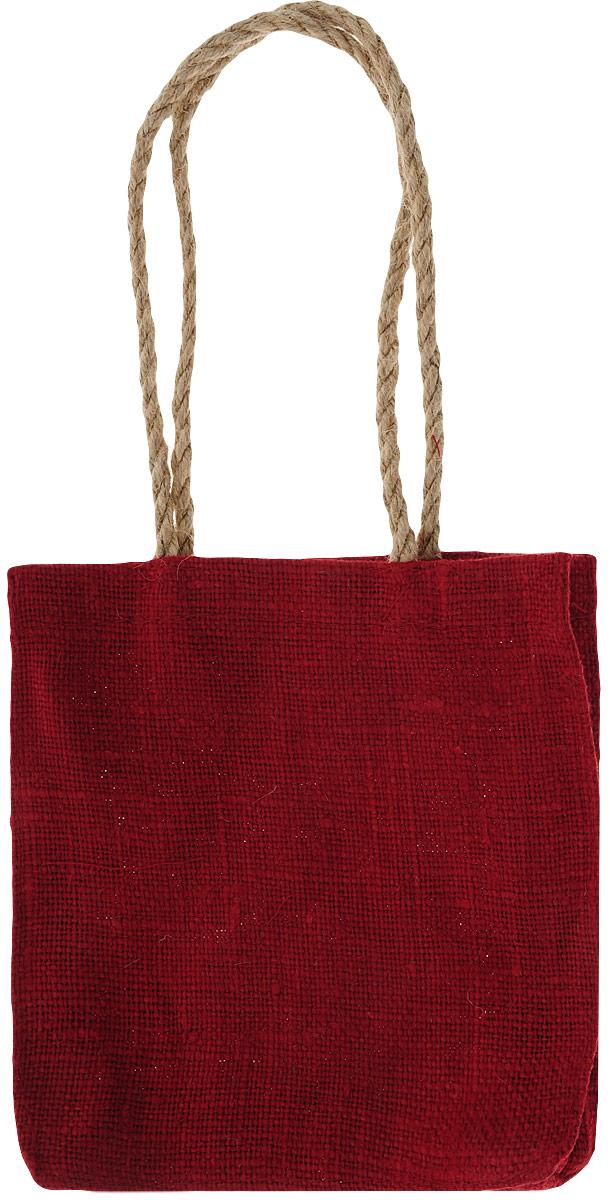 Сумка хозяйственная Подарок, цвет: красный, 1 л4красЭксклюзивная упаковка для дорогих и близких. Сумочка выполнена из 100% льна. Текстура плетения ткани - мешковина. Подарок в такой упаковке выделит Вас из миллионов! Эко сумка - это практично, удобно, выгодно.