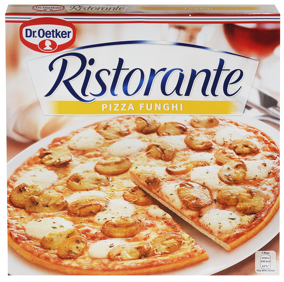 Dr.Oetker Пицца Ristorante Шампиньоны, 365 г22164Пицца Dr.Oetker Ristorante с шампиньонами, 365г.Обильно покрыта томатами, шампиньонами и сыром на хрустящем тонкомкорже. Способ приготовления: предварительно разогреть духовку, снять пленку,выпекать замороженную пиццу 12-14 минут.Хранить при Т -4C -