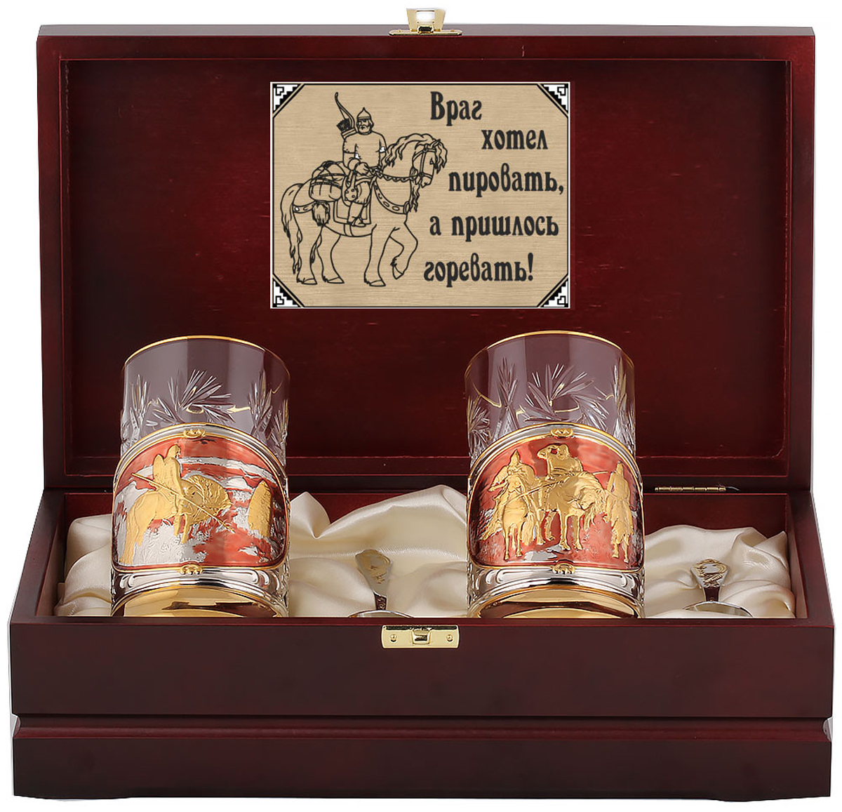 Набор для чая Город Подарков Три богатыря и Витязь на распутье, с позолочением, с эмалью, 250 мл, 6 предметов три богатыря лук с одной стрелой три богатыря