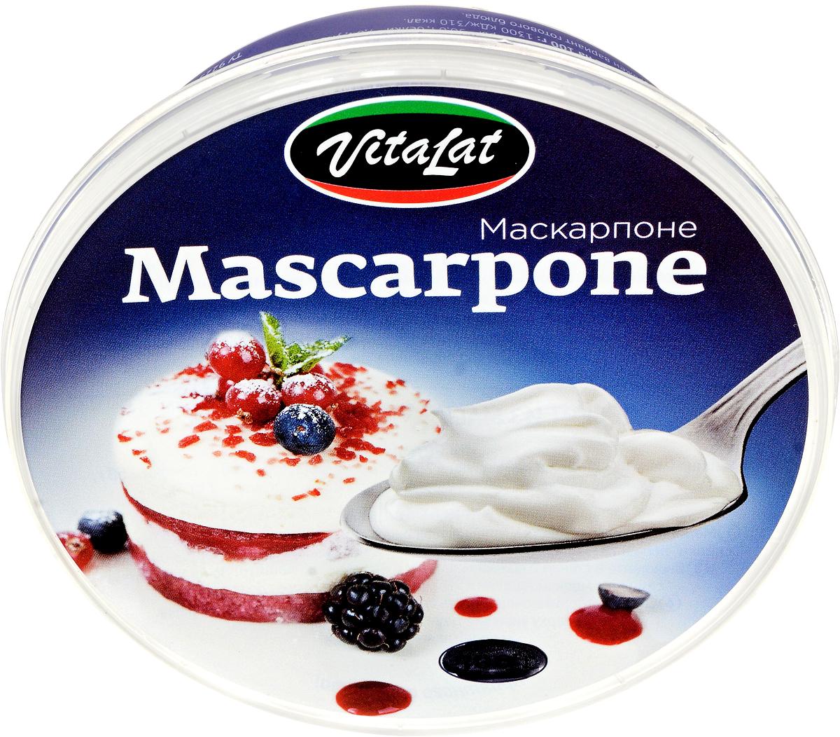 Vitalat Сыр Маскарпоне, 80%, 250 г galbani сыр маскарпоне 80% 250 г