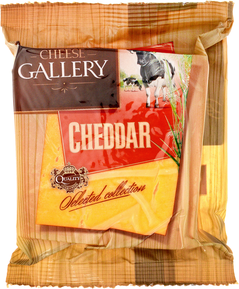 Cheese Gallery Сыр Чеддер красный, 45%, 250 г cheese gallery 20
