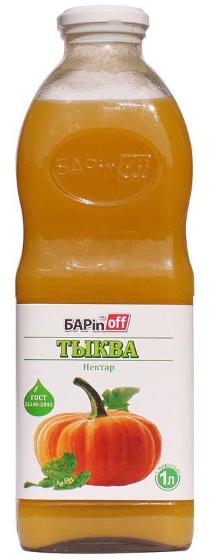 Barinoff Нектар Тыква с мякотью, 1 л добрый pulpy апельсин напиток сокосодержащий с мякотью 0 9 л