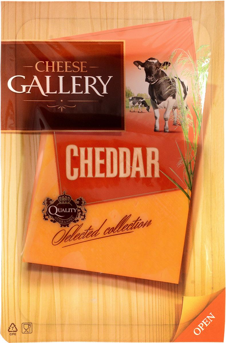 Cheese Gallery Сыр Чеддер красный, 45%, нарезка, 150 г arla natura сыр сливочный 45% нарезка 150 г