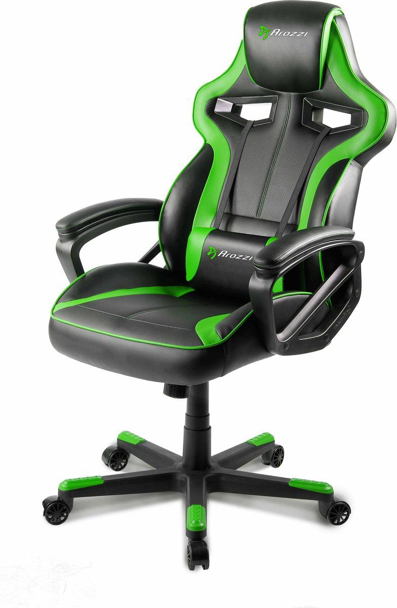 Arozzi Milano, Green игровое креслоMILANO-GNНезависимо от того, играете, работаете или просто читаете, Вы можете делать все это намного комфортнее и с большим энтузиазмом, если у Вас есть компьютерное кресло Arozzi Milano. Milano обеспечивает максимальный комфорт и увеличивает время которое Вы можете провести за компьютером. ! Эргономичный дизайн оптимизирован для геймеров, но идеально подходит и для других целей. Благодаря регулируемой подушке, которая позволяет удобно зафиксировать поясницу, Вы индивидуально создаете комфортное положение под свои потребности. Так же кресло оснащено повротным устройством на 360 градусов, функцией качания и регулировке высоты, а так же устойчивой базой на 5-ти колесиках. ! Дома, в офисе, на соревнованиях – где бы Вы не были, Milano поможет улучшить производительность своего дела… с комфортом и стилем!