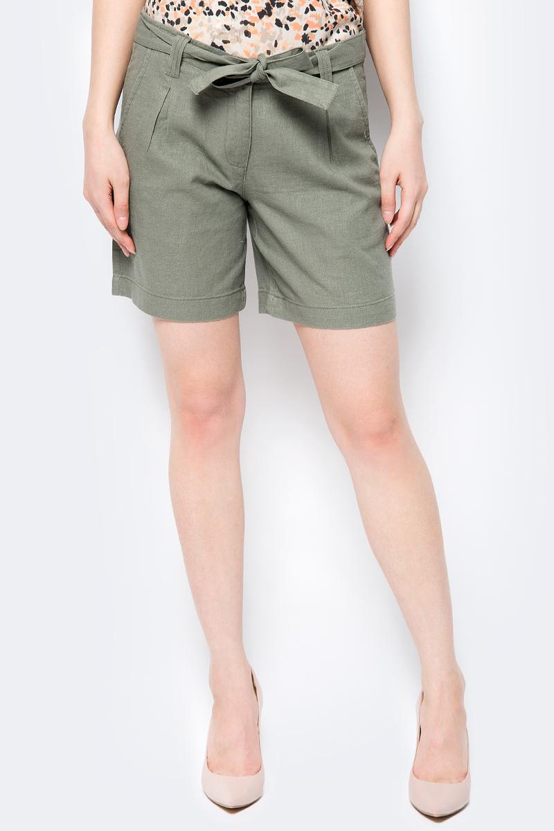 Шорты женские Sela, цвет: оливковый. SH-115/206-8223. Размер 48 шорты женские