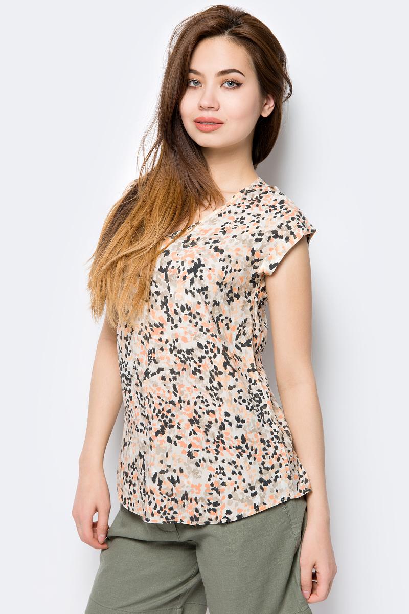 все цены на Блузка женская Sela, цвет: бежевый. Tws-112/145-8243P. Размер 50 онлайн