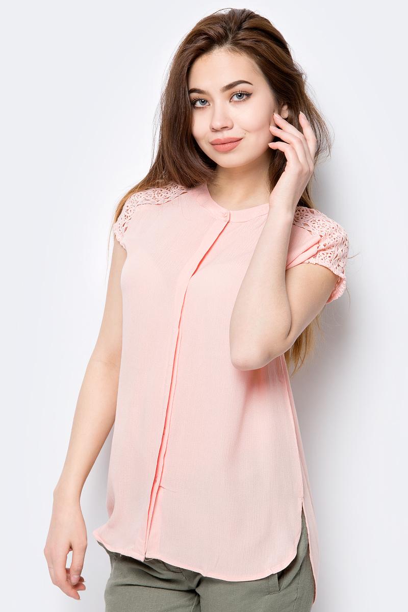все цены на Блузка женская Sela, цвет: персиковый. Bs-112/244-8213. Размер 50 онлайн