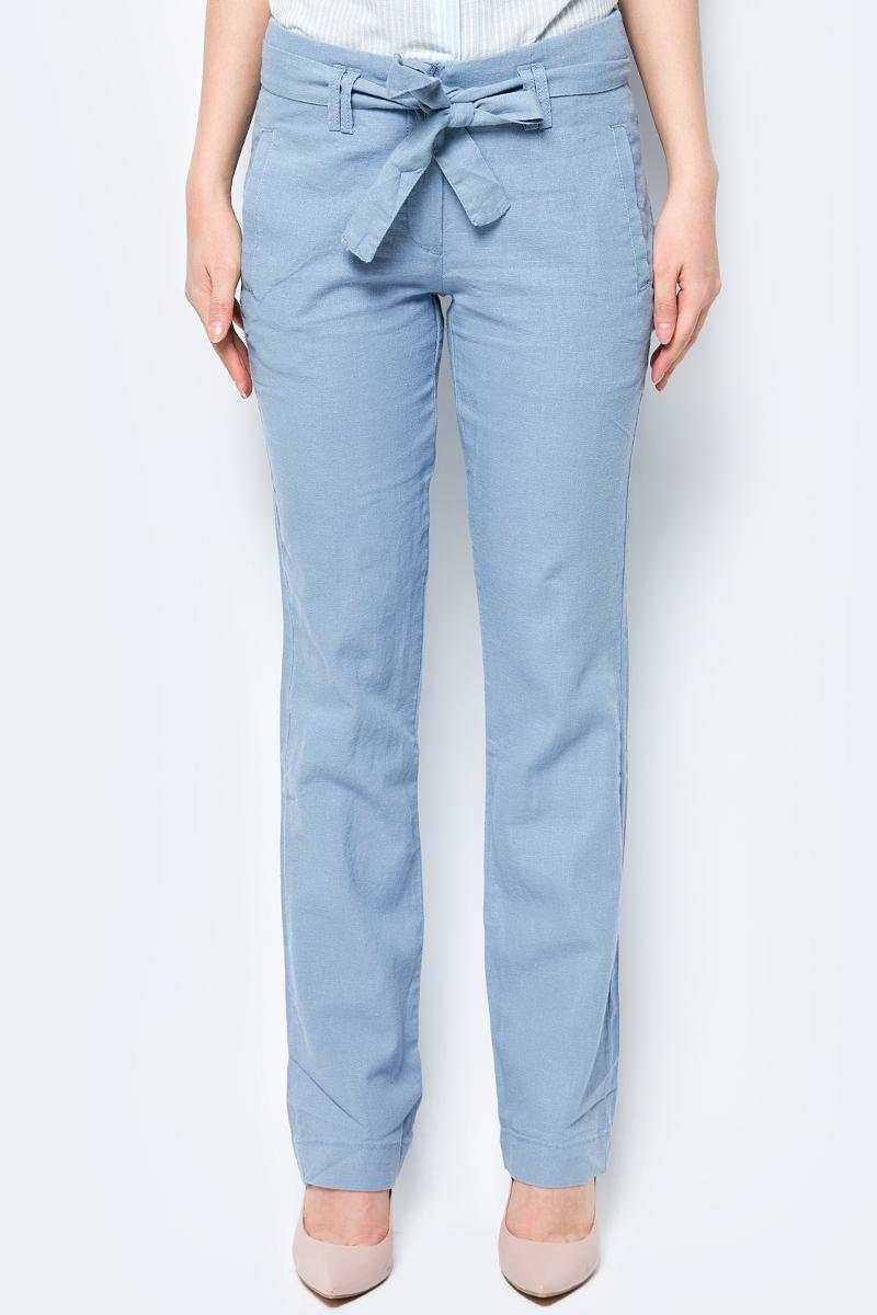 Брюки женские Sela, цвет: синий. P-115/865-8223. Размер 48 брюки женские sela цвет пепельно персиковый p 115 102 7244 размер 48
