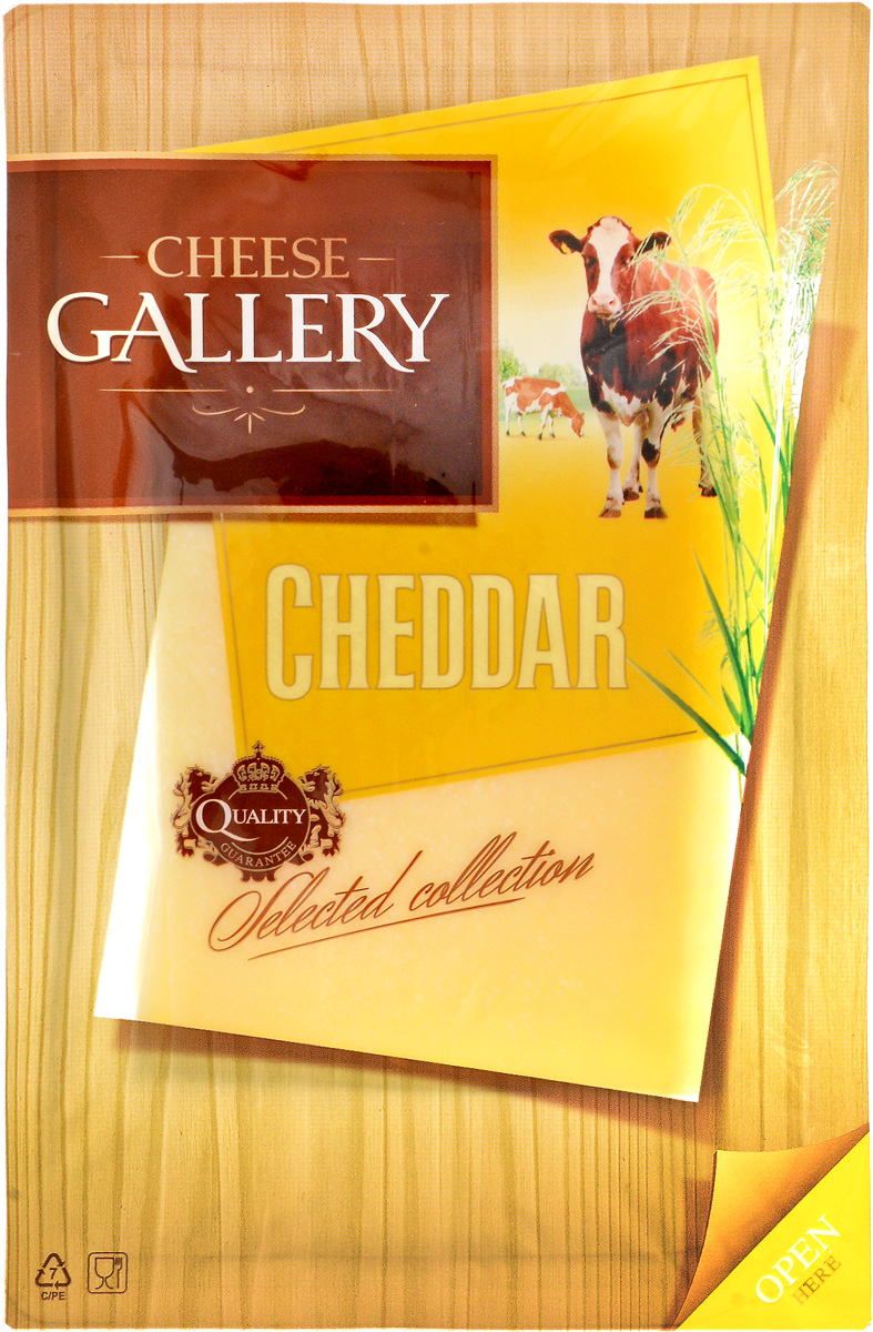 Cheese Gallery Сыр Чеддер, 50%, нарезка, 150 г le superb сыр эмменталлер нарезка 150 г