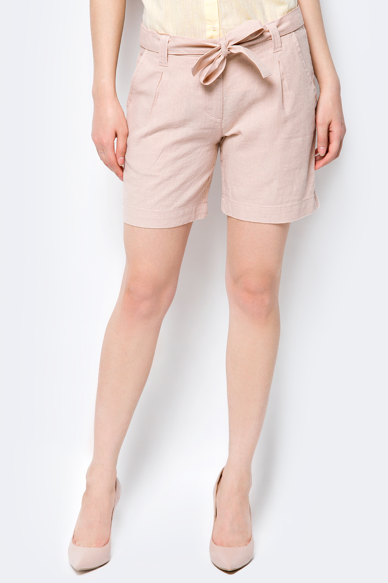Шорты женские Sela, цвет: бежевый. SH-115/206-8223. Размер 48 шорты женские