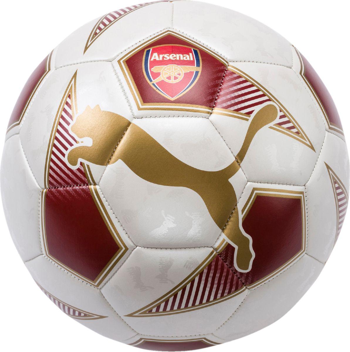 """Отличный мяч для игр на любительском уровне и для всех фанатов ФК  """"Арсенал"""". Сочетание покрытия из термополиуретана, подложки из  вспененного термопластичного эластомера и полиэстера, а также надежная  машинная прошивка панелей создают такие характеристики мяча, которые  обеспечивают удобство приема, сохранение формы, чуткое реагирование на  любые действия игрока, предсказуемость отскока, отличные  аэродинамические качества."""