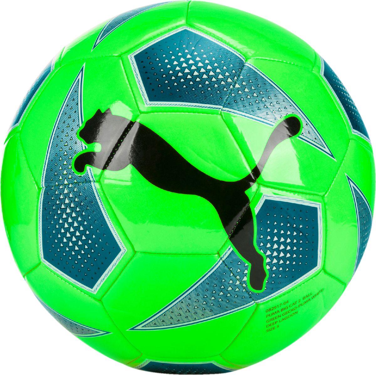 Мяч тренировочный Puma Big Cat 2 Ball, цвет: зеленый игрушка gigwi jumball big ball is a good ball мяч с захватом для собак 75367