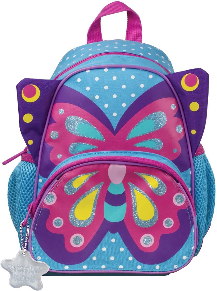 Tiger Family Рюкзак дошкольный Sophie The Butterfly цвет голубой розовый фиолетовый227033За правильной осанкой нужно следить с детства. Если ваш ребенок ходит в детский сад или на дополнительные занятия, то удобно распределить вес игрушек, бутылочки с водой и небольшого перекуса поможет рюкзачок с мягкими лямками и вентилируемой спинкой.Пол ребенка: для девочек.Возрастная группа: 3-7 лет.Объем: 5 л.Кол-во отделений: 1.Кол-во карманов: 3.Фронтальный карман: да.Боковые карманы: да.Материал спинки: пенополиуретан.Светоотражающие элементы: да.Наличие ручки для переноса: да.Регулируемые лямки: да.Вентилируемые лямки: да.Материал дна: плотная ткань.Персонализация: сменная картинка-раскраска.Цвет: голубой.Узор: рисунок.Высота: 26 см.Ширина: 21 см.Глубина: 13 см.Вес: 0.23 кг.