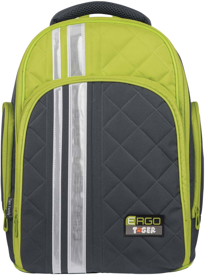 Tiger Family Рюкзак цвет зеленый серый227037Благодаря лаконичному дизайну и стильной расцветке этот рюкзак идеально сочетается со школьной формой и прослужит ребенку не один год. Легкая конструкция и анатомически правильная вентилируемая спинка уменьшают нагрузку на позвоночник.Пол ребенка: универсальный.Возрастная группа: 11-13 лет.Объем: 19 л.Кол-во отделений: 1.Перегородка в основном отделении: да.Кол-во карманов: 3.Фронтальный карман: да.Боковые карманы: да.Материал спинки: пенополиуретан.Светоотражающие элементы: да.Наличие ручки для переноса: да.Регулируемые лямки: да.Вентилируемые лямки: да.Материал дна: плотная водонепроницаемая ткань.Внутренний органайзер: да.Персонализация: нет.Цвет: серый.Узор: однотонный.Высота: 39 см.Ширина: 31 см.Глубина: 22 см.Вес: 0.83 кг.