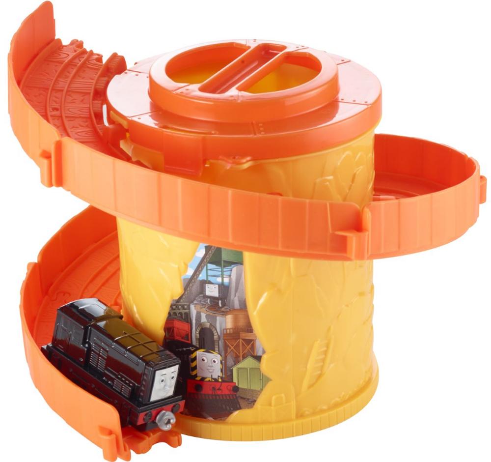 Thomas & Friends Железная дорога Томас и его друзья Башня-спираль с трассой цвет желтый оранжевый - Железные дороги