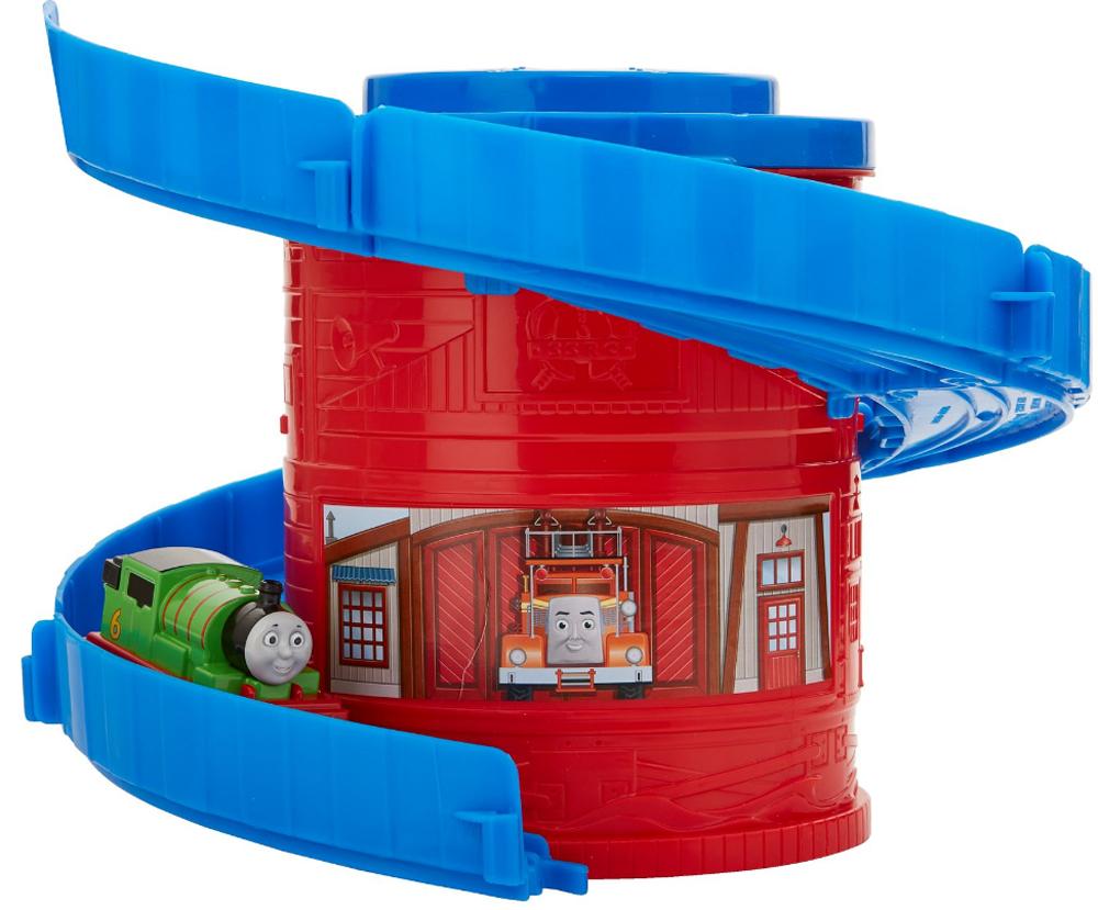 Фото - Thomas & Friends Железная дорога Томас и его друзья Башня-спираль с трассой цвет красный синий боди детский luvable friends 60325 f бирюзовый р 55 61