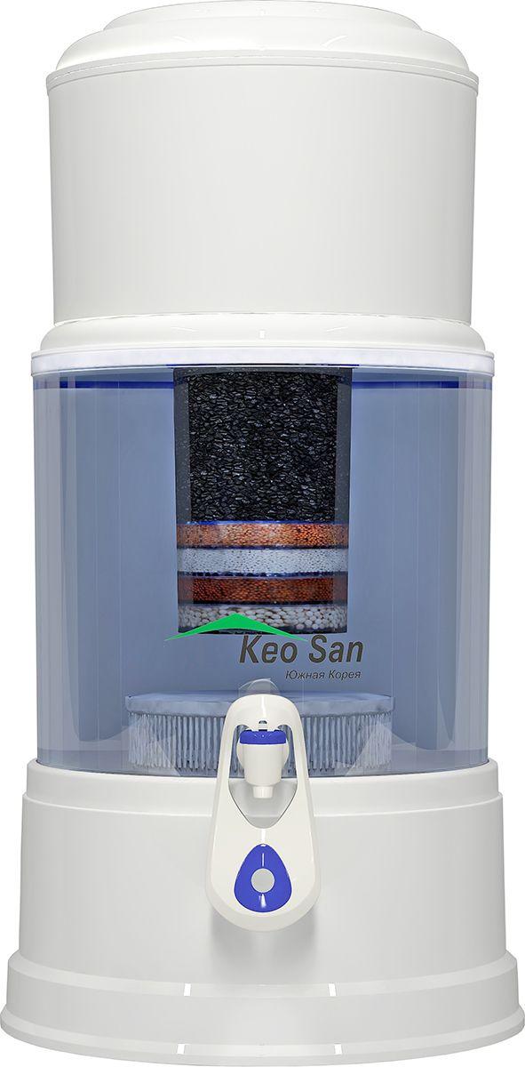 Фильтр-минерализатор воды Keosan KS-971 Имеет несколько высокотехнологичных ступеней очистки воды обеспечивающих высокое качество очистки воды. Фильтр для воды Keosan надёжно очищает воду от осадков, механических взвесей, ржавчины, органических загрязнений, неприятных запахов, нестандартного цвета, химикатов, продуктов хлорирования, тяжёлых металлов, эффективно уничтожает различные виды бактерий (при этом в воде сохраняются все полезные минералы и питательные свойства). Кроме очистки питьевой воды фильтр для воды кеосан-971 производит обогащение питьевой воды полезными для человека веществами (калий, марганец, поташ, натрий и др.), обогащает воду ионами серебра, укрепляя здоровье и улучшая вкусовые качества воды.