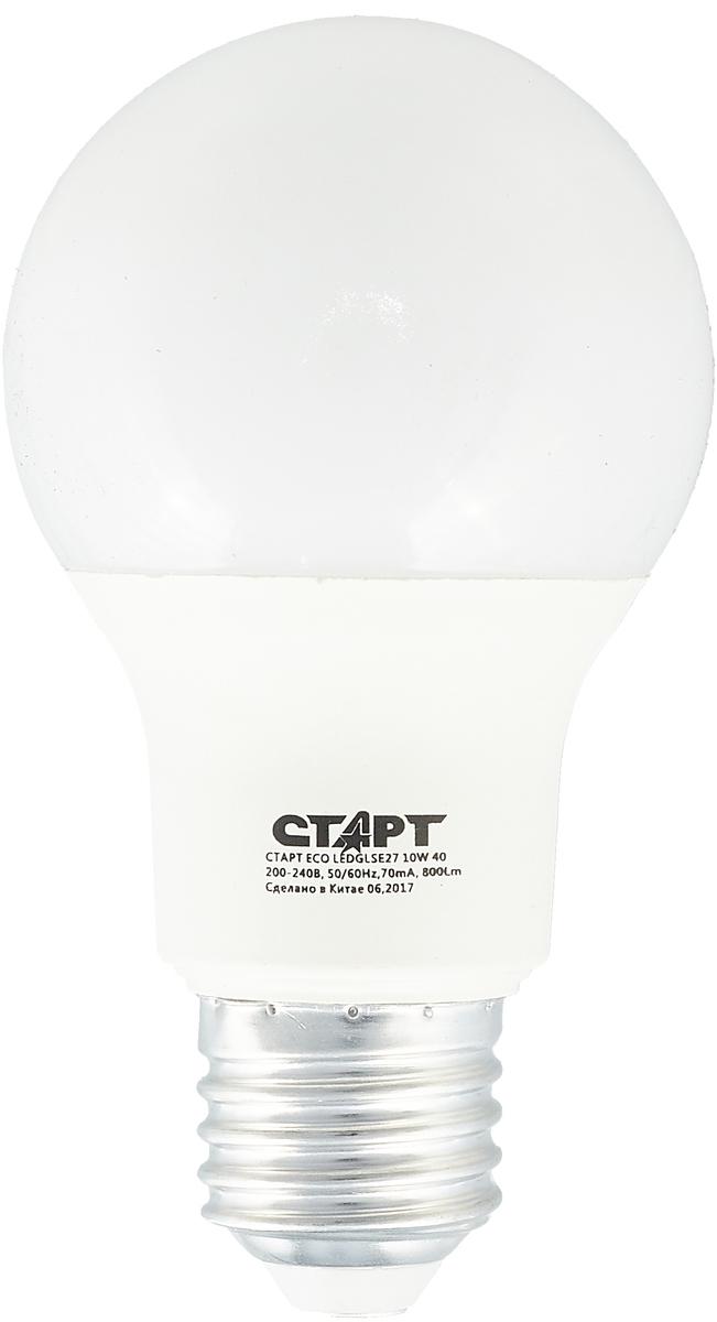 Лампа светодиодная СТАРТ, холодный свет, цоколь E27, 10W светодиодная лампа luck & light холодный свет цоколь e27 3w