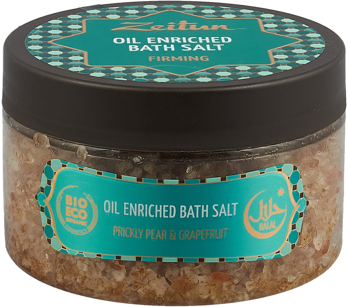 Зейтун Аромасоль для ванны для подтяжки кожи, 250 млZ2110Чтобы кожа тела была упругой, сияющей, здоровой и неподвластной времени, необходим натуральный лифтинг-уход. Проще и приятнее всего добиться желанной подтянутости – ввести в уходовые процедуры регулярные солевые ванны. Ароматическая соль для ванн Zeitun с лифтинг-эффектом содержит экстракт опунции, эфирное масло грейпфрута и комплекс морских минералов, которые великолепно тонизируют, активизируют биологические процессы, возвращают коже эластичность, гладкость и нейтрализуют воздействие свободных радикалов. Основа из солей Мертвого моря и Индийского океана обеспечивает коже самое богатое микроэлементное питание и оздоровление, а гидрофильные масла оливы и миндаля глубоко увлажняют, полностью впитываясь и не оставляя масляных разводов на воде. В составе подтягивающей соли Мертвого моря и Индийского океана – активизирующие обмен веществ, эффективные омолаживающие эфирные масла и экстракты в сочетании увлажняющими растительными маслами:Экстракт опунции богатейший источник галактуроновой кислоты и полисахаридов – активизирует биологические процессы, защищает клетки от раннего старения, подтягивает и разглаживает кожу.Эфирное масло грейпфрута богато необходимым коже антиоксидантом витамином С, защищает от свободных радикалов и окислительных процессов, которые пагубно сказываются на состоянии кожи.Соль Мертвого моря – самая настоящая кладезь для здоровья, у которой нет ни единого аналога в мире. Богатая микроэлементами соль поистине волшебно воздействует на общее состояние организма, борется с кожными заболеваниями, снимает усталость мышц и суставов.Соль Индийского океана обладает уникальным макро- и микроэлементным составом, который высоко ценится в медицине и косметологии. Соль способствует активному насыщению клеток практически всем спектром необходимых веществ, программирует кожу на правильное усвоение и распределение энергии, препятствуя накапливанию жировых отложений.Гидрофильные масла (оливковое, миндальное) п