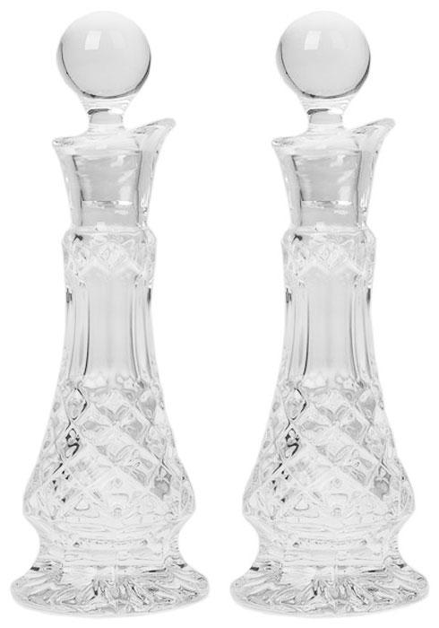"Набор графинов Crystal Bohemia ""Diamond"", для масла и уксуса, 100 мл, 2 шт"