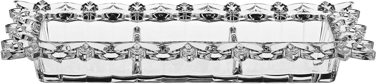 "Менажница Crystal Bohemia ""Pierced"", 36,5 х 6 см"