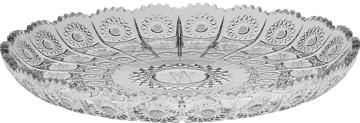 Блюдо Crystal Bohemia 500PK, диаметр 31 см990/61112/0/57030/310-109Настоящий чешский хрусталь c содержанием оксида свинца 24%, что придает ему неповторимую игру света всеми цветами спектра за счет исключительного светопреломления, абсолютную прозрачность и поразительный блеск. Хрусталь - атрибут роскоши в доме и благосостояния его хозяев. Экологически чистый материал.