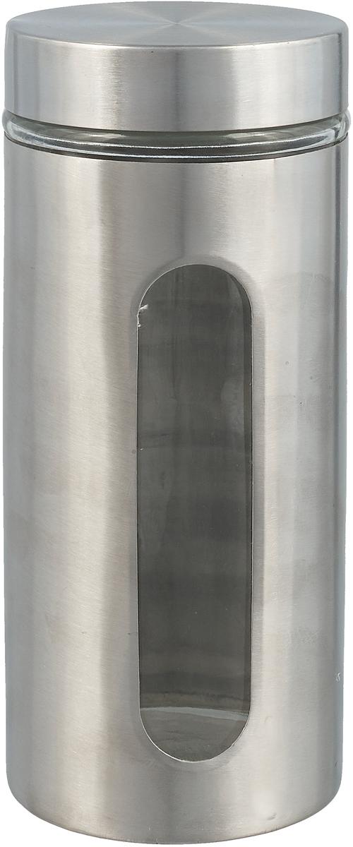Керамическая банка 1300мл д/сыпучих продуктов, кожух из нержавеющей стали, упаковка - гофрокороб