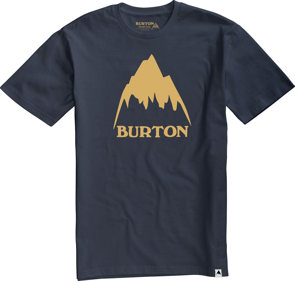 Футболка мужская Burton Mb Clssmtnhgh Ss, цвет: темно-синий. 13882105400. Размер XXL (54) футболка мужская anta цвет синий 85835146 2 размер xxl 54