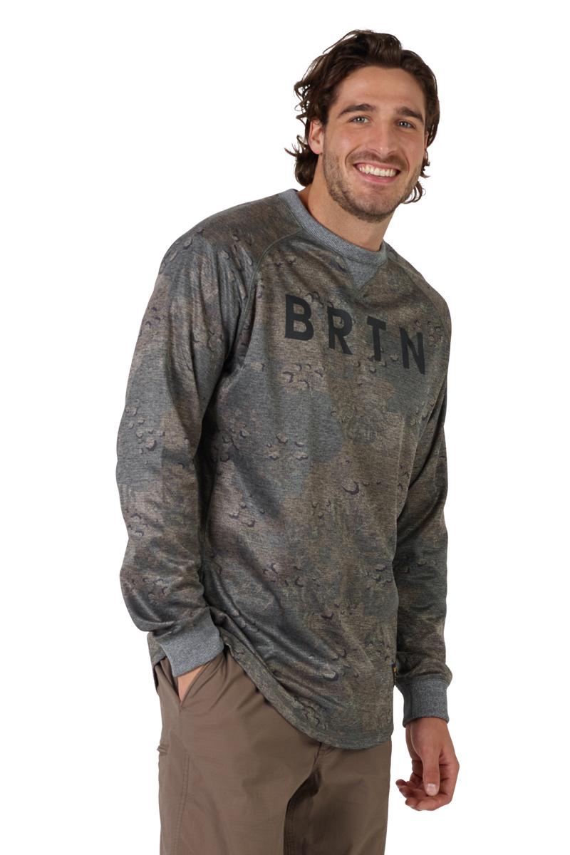 Толстовка мужская Burton Mb Caption Crew, цвет: светло-коричневый. 16782104300. Размер XL (52) burton термобелье burton midweight base layer pant true black fw18 xl