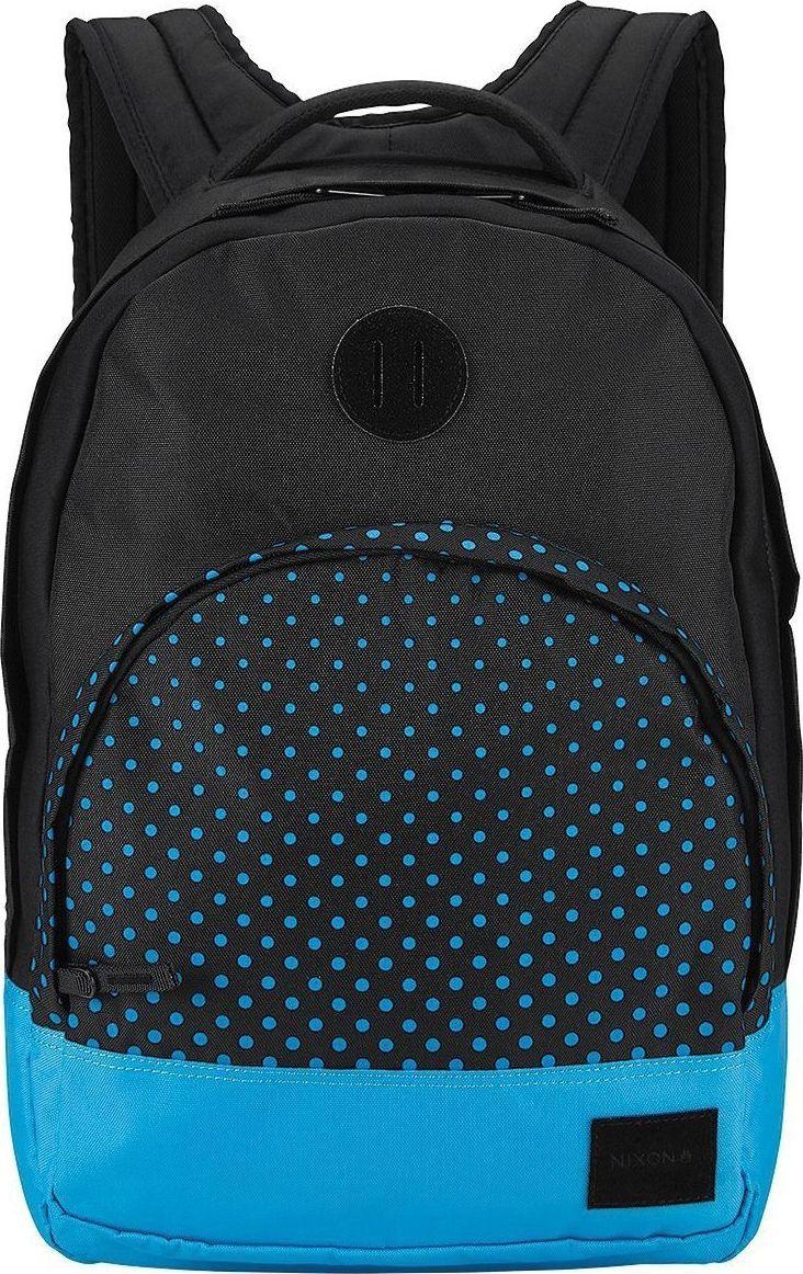 Рюкзак Nixon Grandview, цвет: черный, голубой, 25 л. C2189-018-00C2189-018-00Этот рюкзак внешне выглядит компактным, однако на самом деле он очень вместителен. Возьмите его в город, на природу или в поездку – в любой ситуации он послужит надёжным помощником. Внутри предусмотрен специальный карман для ноутбука, а во внешний карман вшит органайзер для ручек и карандашей.Особенности: Вместительное основное отделение на молнииКарман-органайзер на молнии Ручка для переноски Мягкие регулируемые лямки с сетчатыми вставками Объём: 25 литров Размеры: 28 х 19 х 46 см Материал: 100% нейлон 200D.