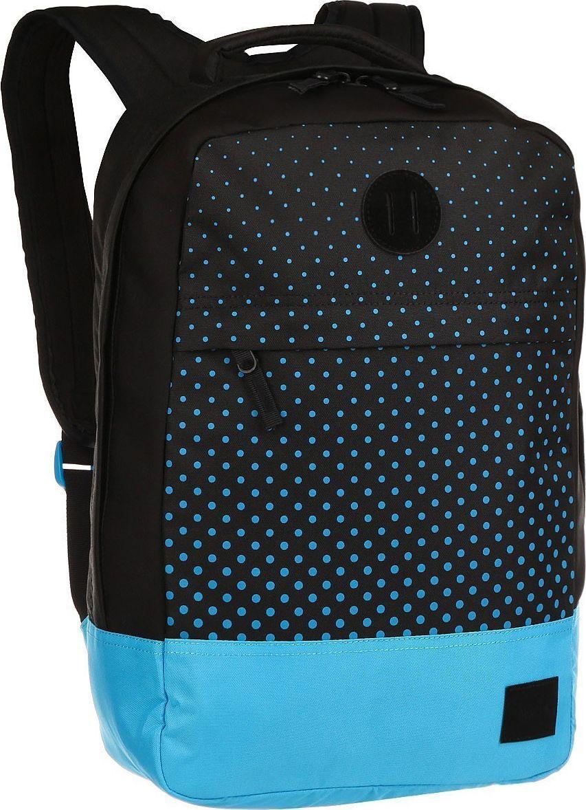 Рюкзак Nixon Beacons, цвет: черный, голубой, 18 л. C2190-018-00C2190-018-00Рюкзак Beacons представлен как в нескольких действительно оригинальных расцветках, так и в классическом однотонном варианте. Благодаря вместительности и прочным качественным материалам, из которых изготовлен рюкзак, это отличный, надёжный вариант на каждый день. Особенности: Основное отделение на молнии Внутренние карманы Внешний карман на молнии Мягкие регулируемые лямки с сетчатыми вставками Ручка для переноски Объём: 18 литров Размеры: 28 х 15 х 46 см Состав: 100% полиэстер 600D.