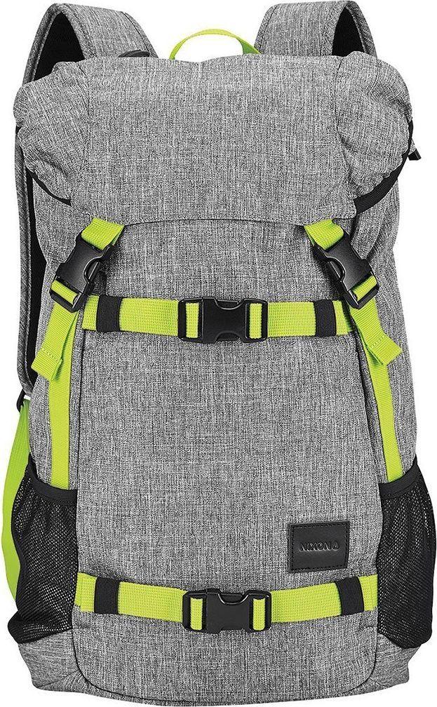 Рюкзак Nixon Landlock SE, цвет: серый, лайм, 33 л. C2394-1510-00C2394-1510-00Вместительный рюкзак с креплениями для доски. Теперь Вы можете смело отправляться на самый дальний спот, захватив с собой все необходимое и даже больше. Nixon Landlock отлично подойдет для путешествий: благодаря полезному объему в 33 литра Вам, возможно, даже не придется брать с собой чемодан. А слегка аутентичный вид отлично впишется в Ваш городской лук, добавив стиля. Особенности: Внешние крепления для доски Ручка для переноски Кожаный логотип Основной отсек закрывается на верхний клапан и дополнительно утягивается шнурком Внутренние карманы на молнии в основном отсеке Эргономичная мягкая спинка Мягкие лямки Боковые карманы Объем: 33 литра Материал: прочный полиэстер 600D Материал подкладки: полиэстер 210D.