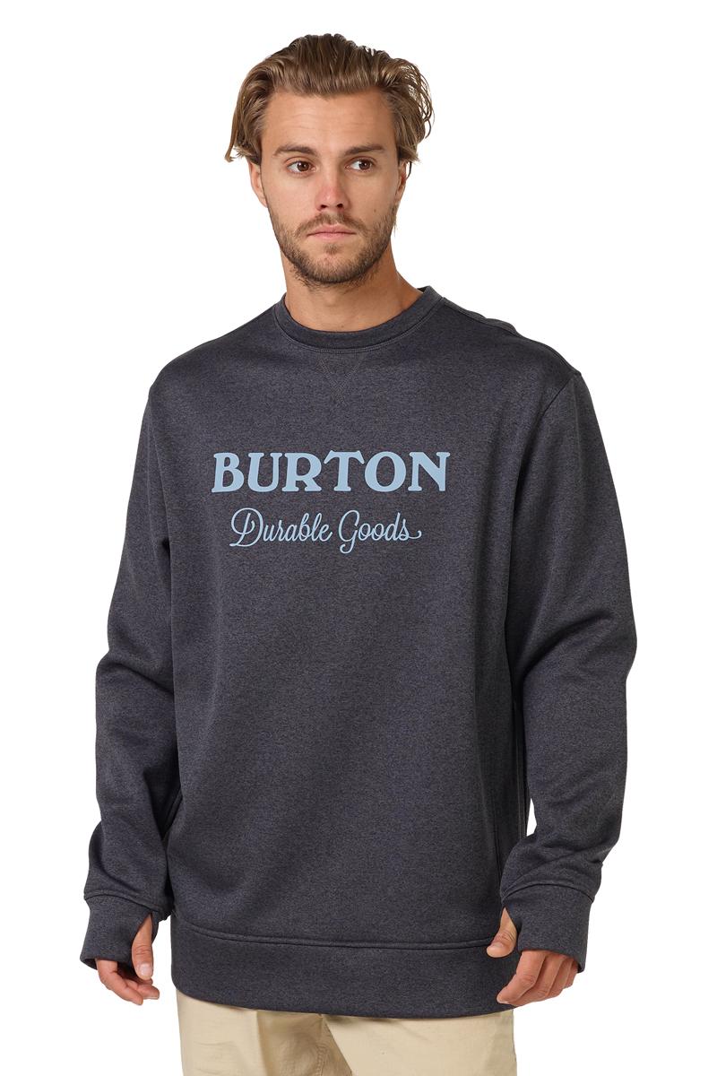 Толстовка мужская Burton Mb Oak Crew, цвет: черный. 17353103001. Размер L (50) burton крепления для сноуборда burton freestyle black matte l