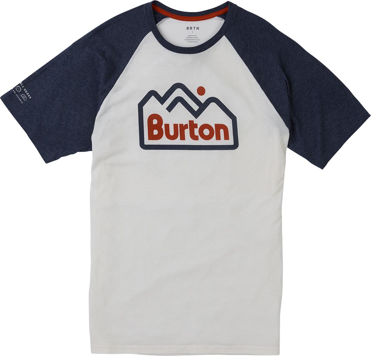 Футболка мужская Burton Mb Mtnjack Active, цвет: белый. 17877102100. Размер XL (52) burton термобелье burton midweight base layer pant true black fw18 xl