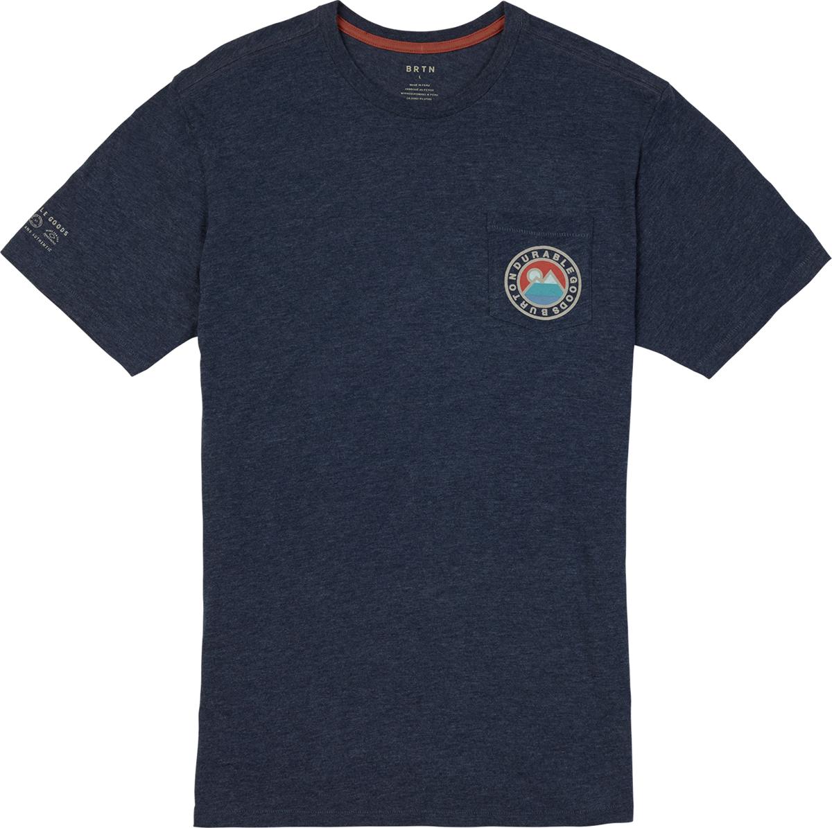 Футболка мужская Burton Mb Fox Peak Active, цвет: темно-синий. 18944101400. Размер XL (52)18944101400Мужская футболка Burton выполнена из полиэстера с добавлением хлопка и вискозы. Модель с круглым вырезом горловины и короткими рукавами дополнена накладным карманом.