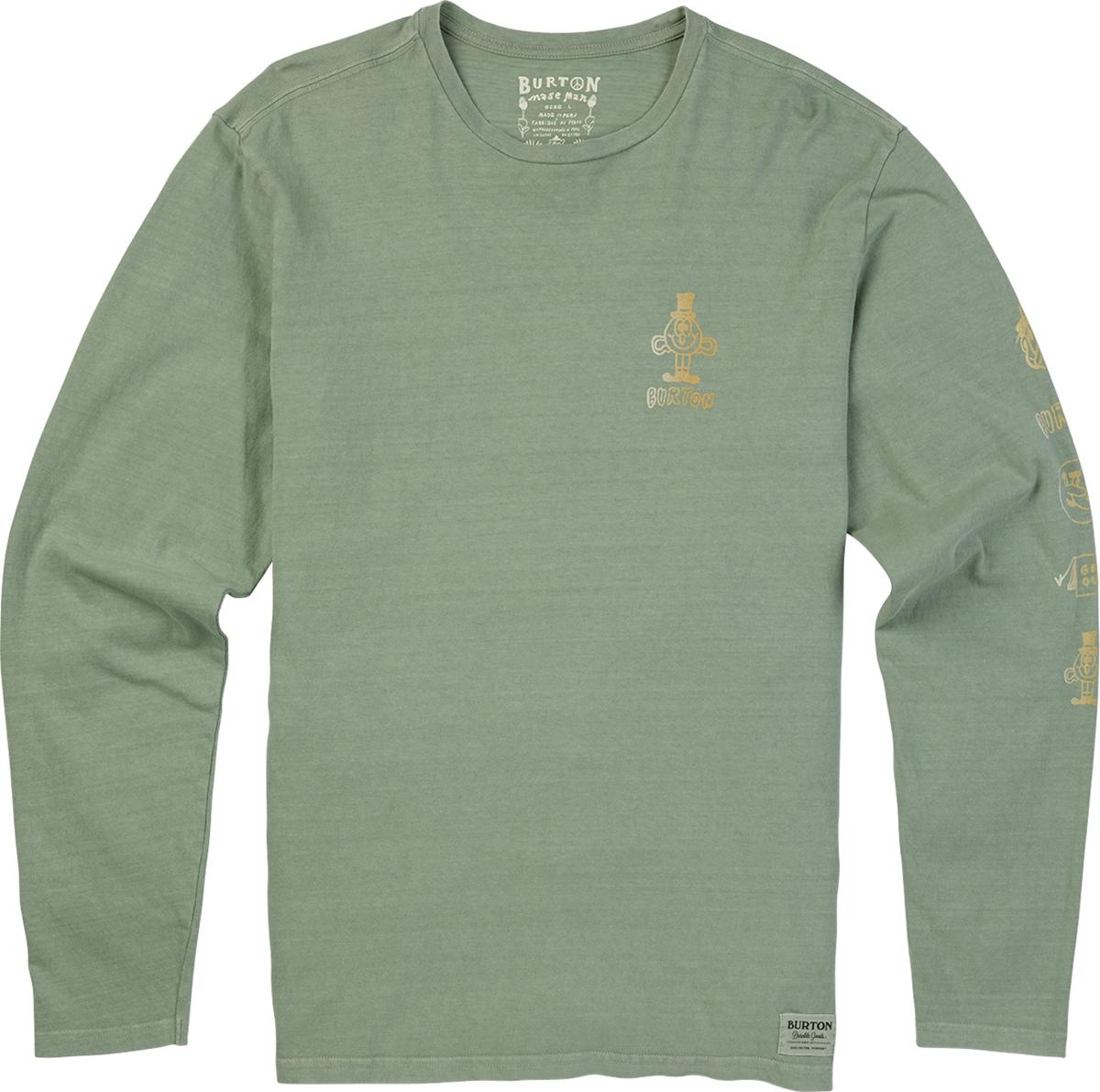 Футболка мужская Burton Mb Still Trippn Ls, цвет: оливковый. 18965101300. Размер XXL (54) burton футболка