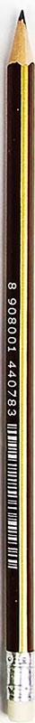 Карандаш чернографитный Полоски с ластиком твердость HB цвет корпуса коричневый2687390_коричневыйИзделия данной категории необходимы любому человеку независимо от рода его деятельности. У нас представлен широкий ассортимент товаров для учеников, студентов, офисных сотрудников и руководителей, а также товары для творчества.
