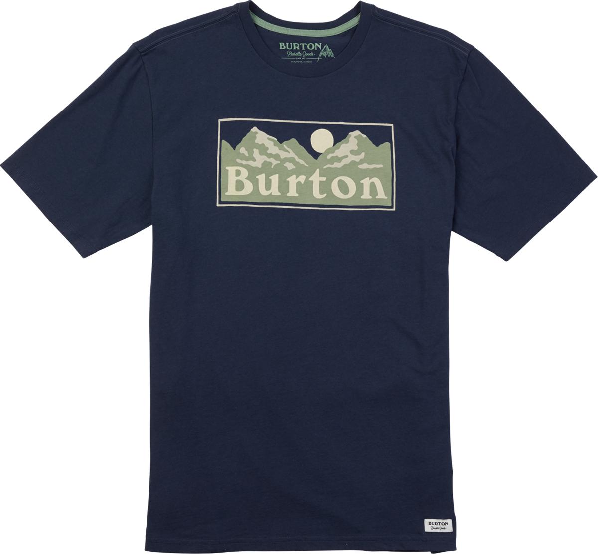 Футболка мужская Burton Mb Ralleye Ss, цвет: темно-синий. 19691100400. Размер XXL (54) футболка мужская anta цвет синий 85835146 2 размер xxl 54