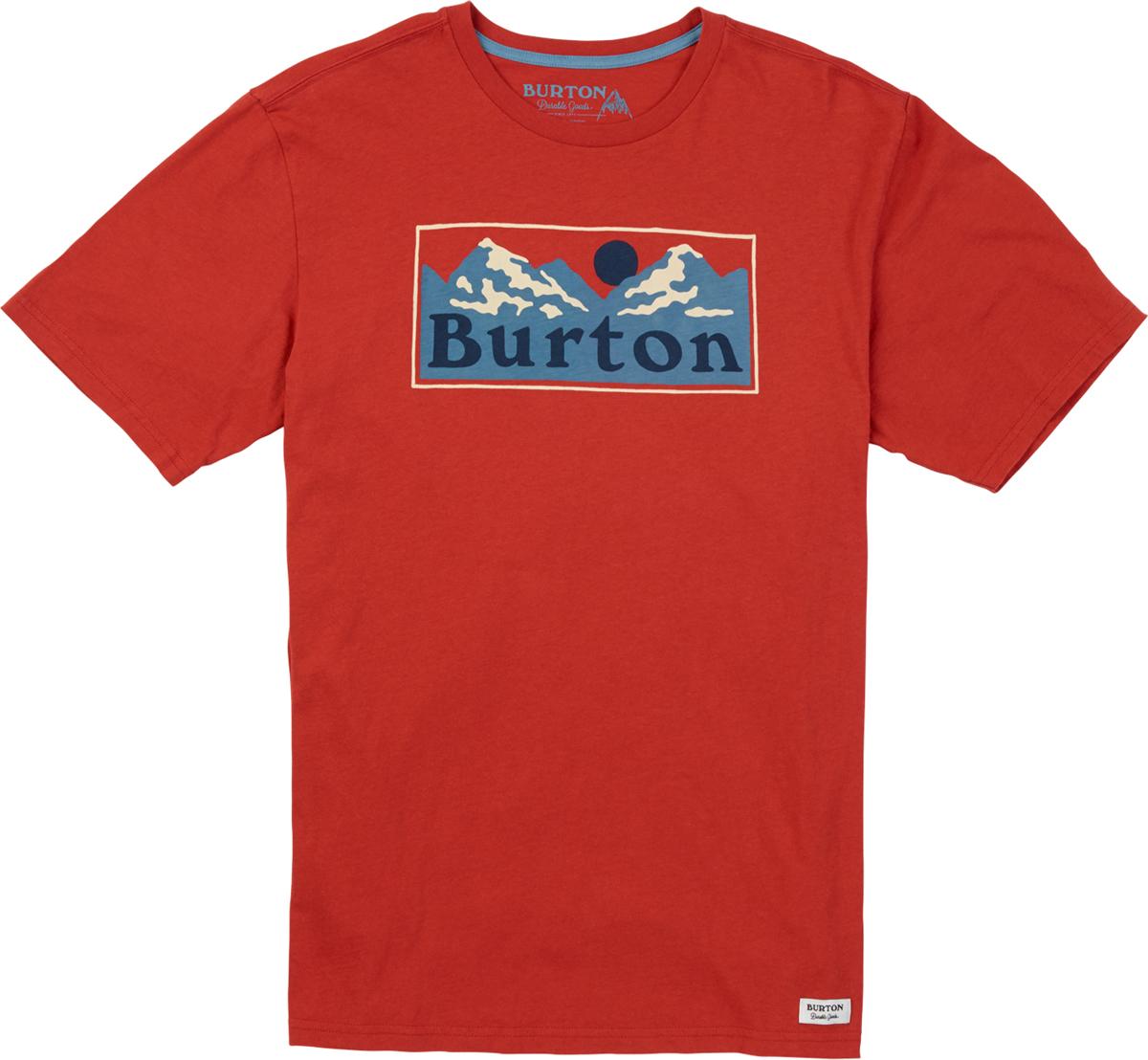 Футболка мужская Burton Mb Ralleye Ss, цвет: красный. 19691100600. Размер XL (52) burton термобелье burton midweight base layer pant true black fw18 xl