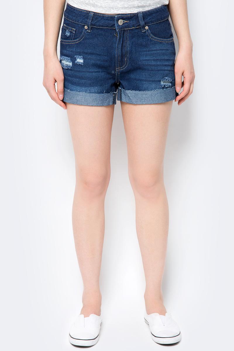 Купить Шорты женские Sela, цвет: темно-синий. SHJ-135/654-8283. Размер 29 (46)