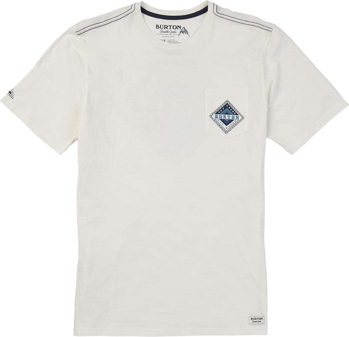 Футболка мужская Burton Mb Anchor Point Ss, цвет: белый. 19694100100. Размер XL (52) burton футболка