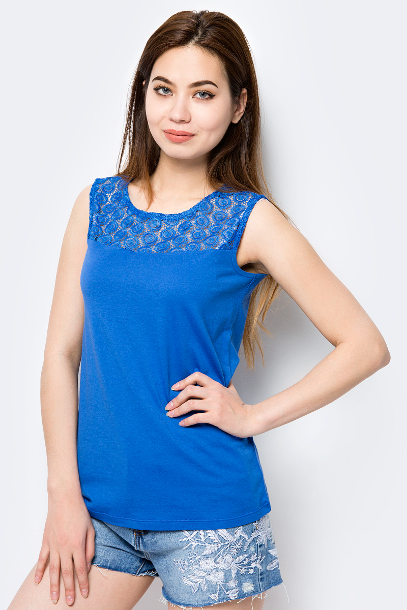 Топ женский Sela, цвет: синий. Tsl-111/262-8213. Размер XS (42) sela tsl 111 161 7225
