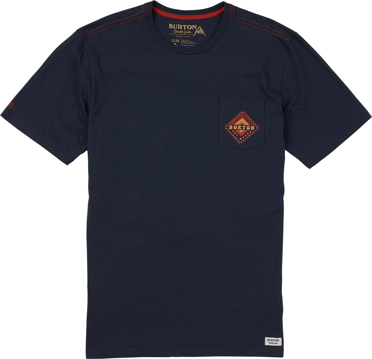 Футболка мужская Burton Mb Anchor Point Ss, цвет: темно-синий. 19694100400. Размер XXL (54)